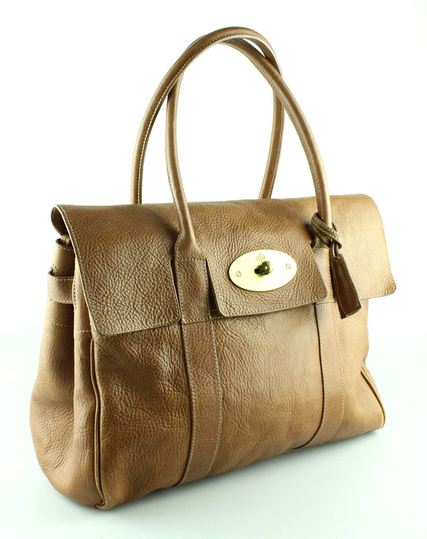 Mulberry Bayswater Oak NVT Grained Leather Brass RRP €1295