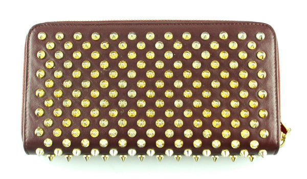 Christian Louboutin Panettone Wallet Wine Calf/Spikes RRP €530