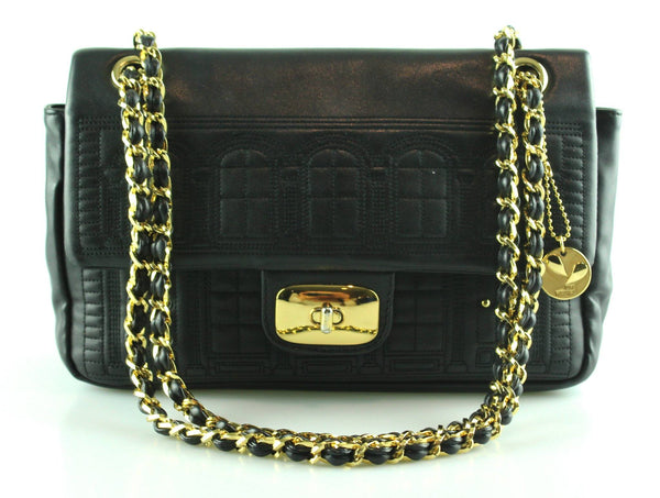 Love Moschino Black Mansion Turnlock Flap Bag