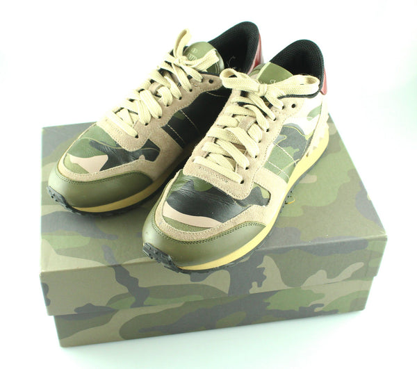 Valentino Camouflage Sneaker Military Green 36/3 RRP €550