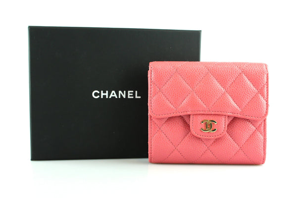 32cfb4373f477e Chanel Caviar Leather Compact Classic Wallet Pink 2018 – Designer Exchange  Ltd