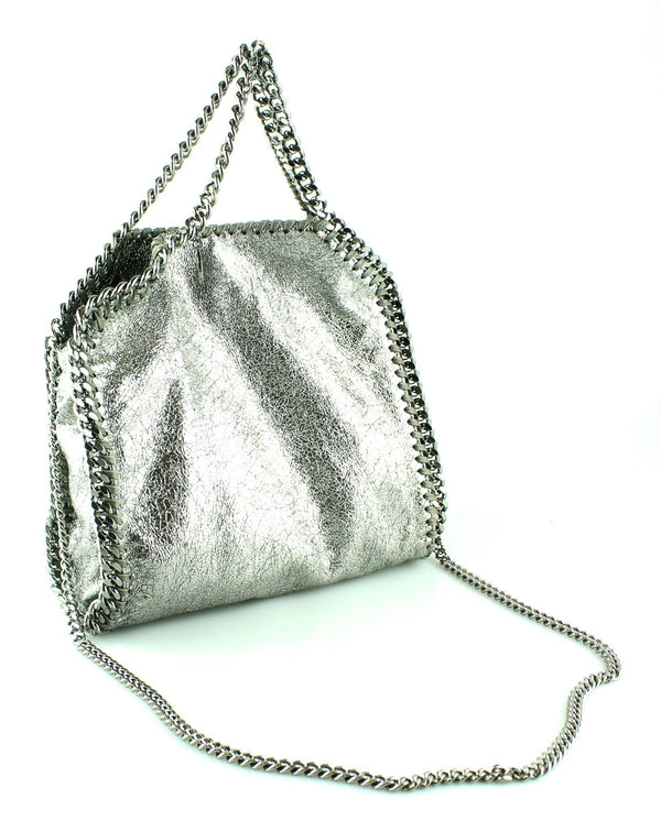 Stella McCartney Silver Metallic Falabella Mini Tote GMH