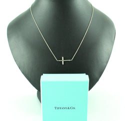 Tiffany & Co Sterling Silver Paloma Picasso Crucifix Pendant On Chain