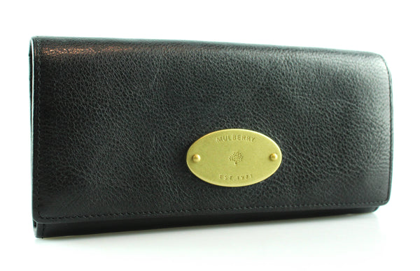 Mulberry Heritage Continental Wallet Black