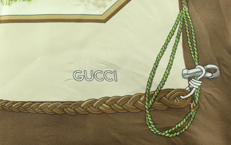 Gucci Silk Scarf Ducks