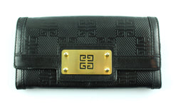 Givenchy Embossed Calfskin Mono Flap Wallet