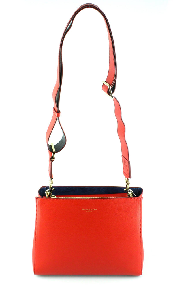 Aspinal Of London Red Ella Small Crossbody Bag