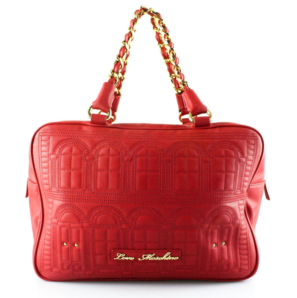 Love Moschino Red Mansion Chain Tote