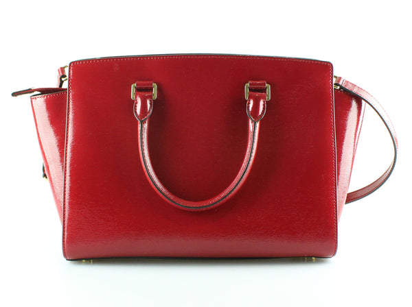 Michael Kors Large Ruby Red High Shine Selma GH