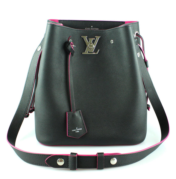 Louis Vuitton Lockme Bucket Bag Black DU3118 (RRP €2020)