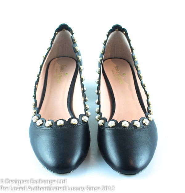 Kate Spade Maeve Pearl Studded Block Heels EUR 40 UK 7