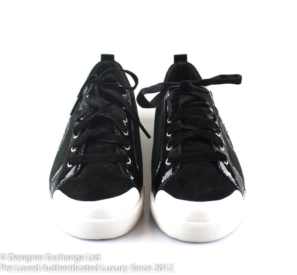 Coach Black Velvet / Patent Runners