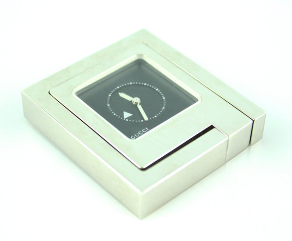 Gucci Steel Ref0830 Travel/Desk Mini Alarm Clock