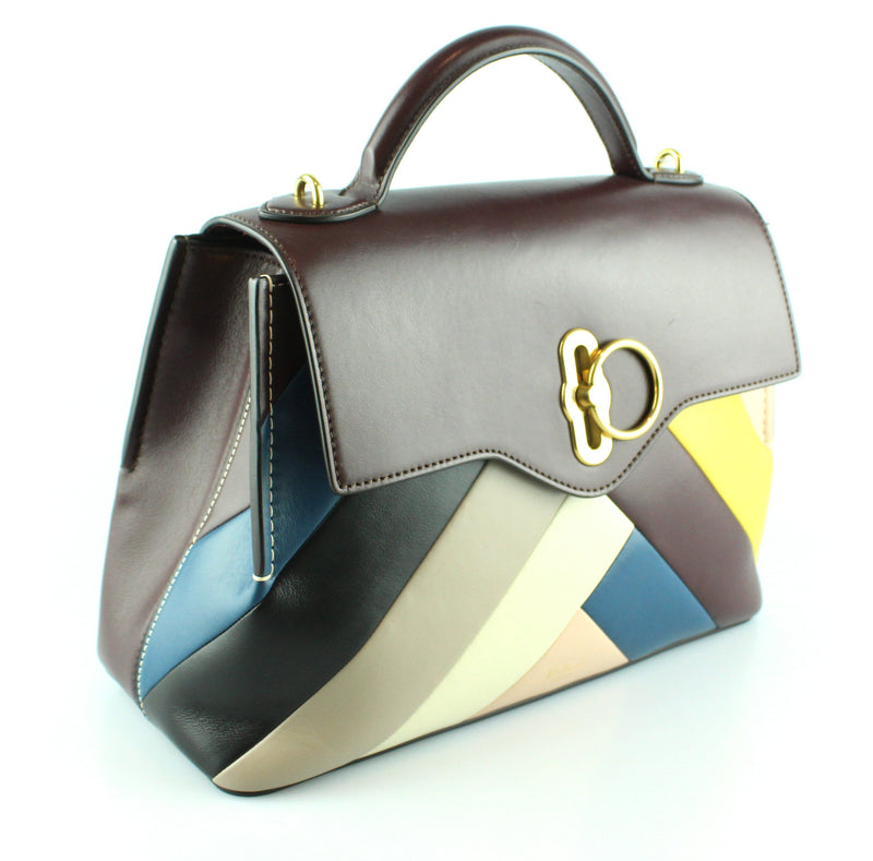 Mulberry Smooth Calf Chevron Amberley Multicolour