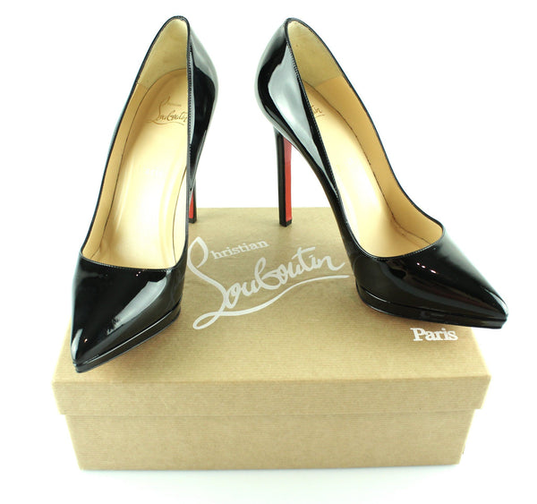 buy popular ca7a6 306b1 Christian Louboutin Pigalle Plato 120 Patent Calf Black EUR39.5 UK 6.5 (.)