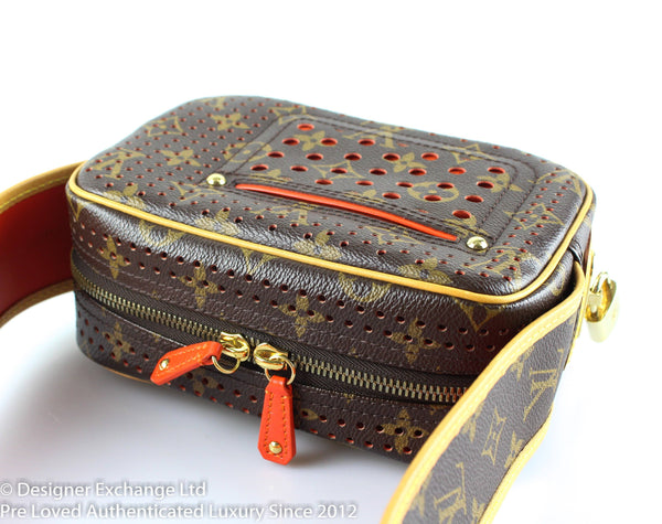 Louis Vuitton Limited Edition Monogram Perforated Mini Trocadero TH0046
