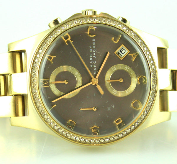 Marc By Marc Jacobs Gold Tone Henry Chronograph Watch