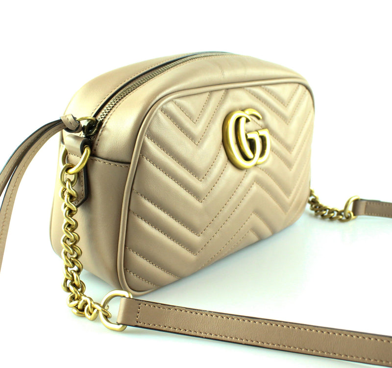 Gucci Dusty Pink GG Marmont Small Matelasse Shoulder Bag RRP €980