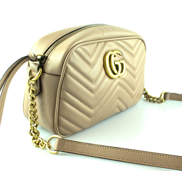b5059e2a363 Gucci Dusty Pink GG Marmont Small Matelasse Shoulder Bag RRP €980 ...