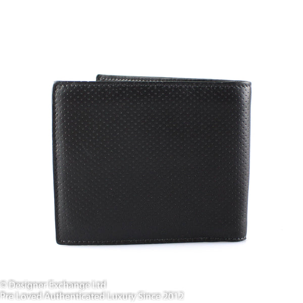 Tod's Black Perforated Leather Flap Wallet