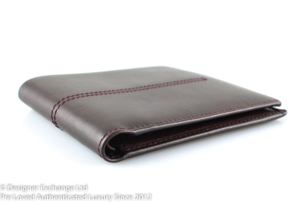 Tod's Bordeaux Leather Flap Wallet