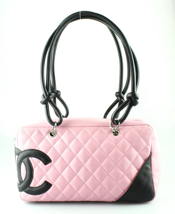 Chanel Cambon Line Quilted Pink/Black Rectangular Shoulder Bag 2006