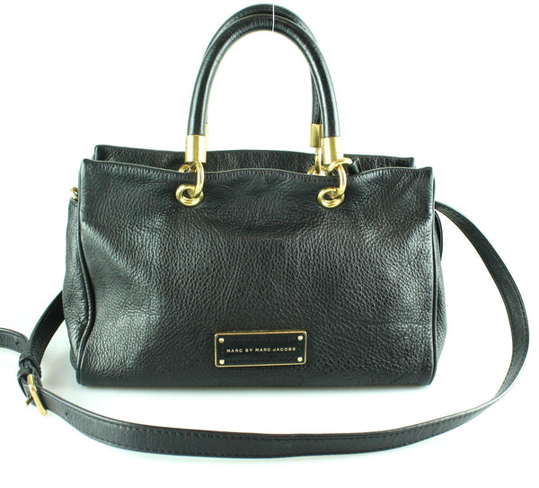 Marc By Marc Jacobs Too Hot To Handle Small Balck Tote With Sh Strap