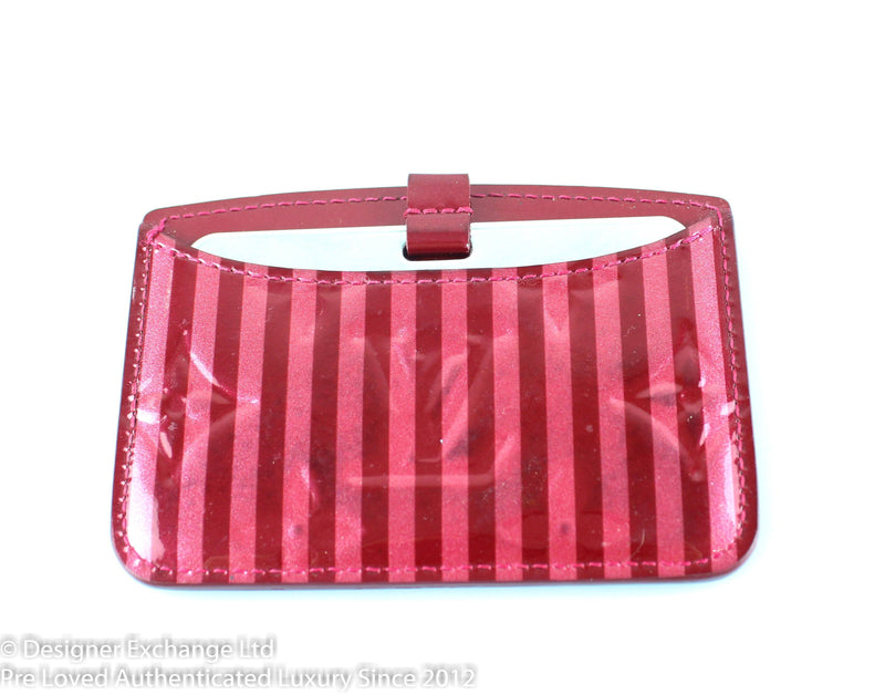 Louis Vuitton Vernis Rayures  Mirror Case Pomme D'amour TS4181