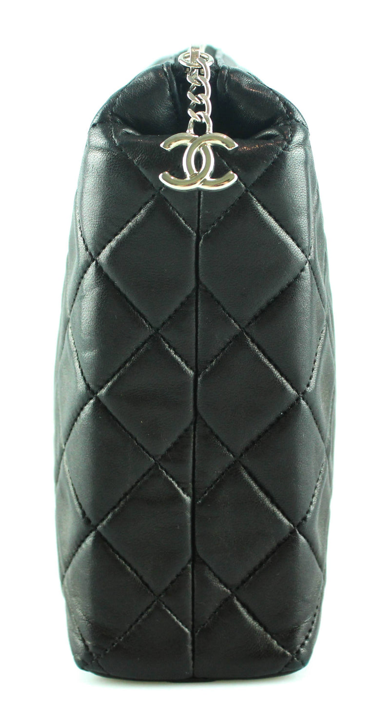 Chanel Quilted Lambskin Black Toiletry Pouch 2008