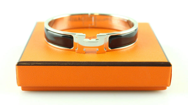 Hermes Clic H GM Palladium and Enamel Black