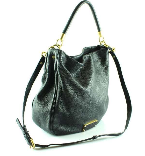 Marc By Marc Jacobs Too Hot To Handle Black Leather Hobo GH