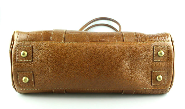 Mulberry Oak Croc Embossed Bayswater Oak With Brass Hardware
