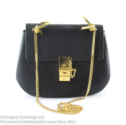 Chloe Black Small Grained Leather Drew