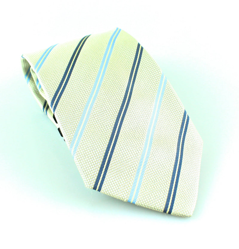 Pelo Grey Striped Silk Tie