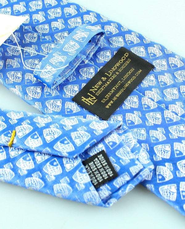 New And Lingwod Fishes Blue Tie