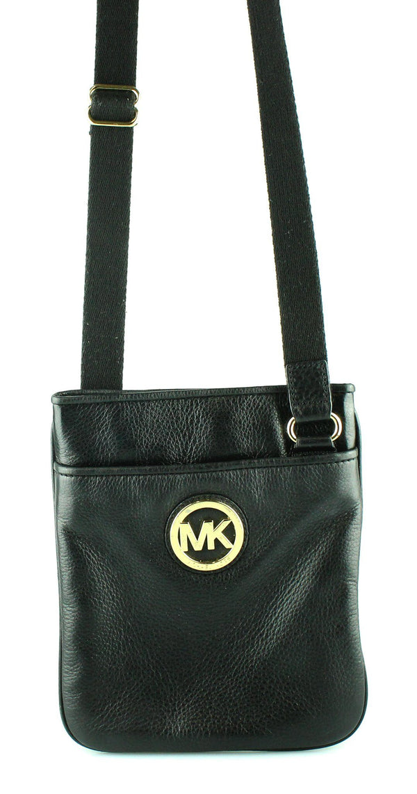 Michael Kors Black Leather Mini Crosbody GH