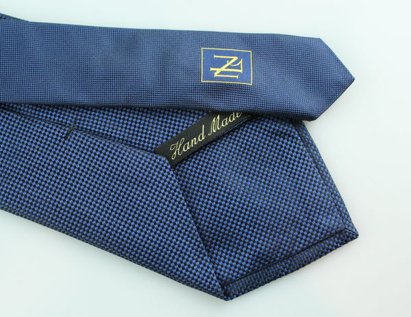 New And Lingwood Navy Silk Tie