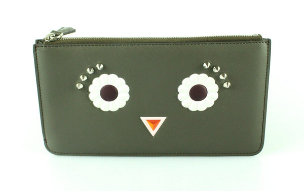 Fendi Embellished Leather Pochette/Clutch
