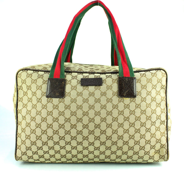 Gucci Web Detail GG Carry On Duffle Bag