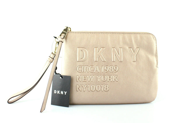 DKNY Rose Gold 3/4 Zip Wristlet