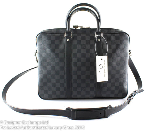 Louis Vuitton Porte Documents Damier Graphite PM GI2117 (RRP €990)