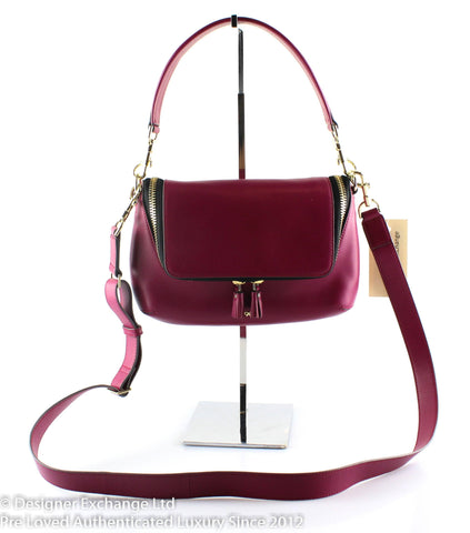 Anya Hindmarch Maxi Zip Mini Raspberry