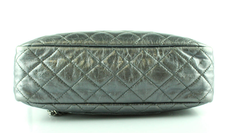 Chanel 2008 Metallic Grey Glazed Calfskin Reissue Camera Bag