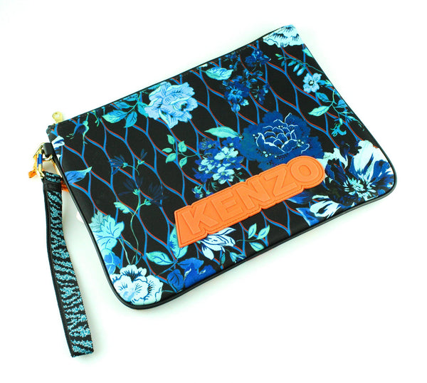 Kenzo For H&M Neoprene Floral/Leopard Pouch