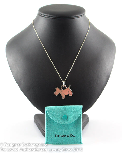 Tiffany Sterling Silver Necklace With 925 Dog Pendant