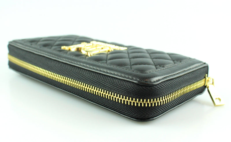 Love Moschino Black Quilted Red Interior Wallet GH