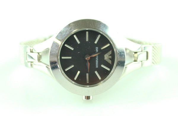 Emporio Armani Stainless Steel Dress Watch Black Dial