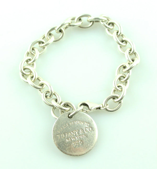 Tiffany & Co 925 Return To Tiffany Disc Bracelet