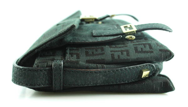 Fendi Black Monogram Sweetie Mini Bag
