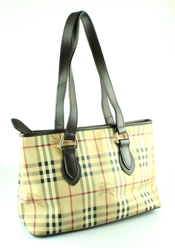 Burberry Haymarket Check East West Tote